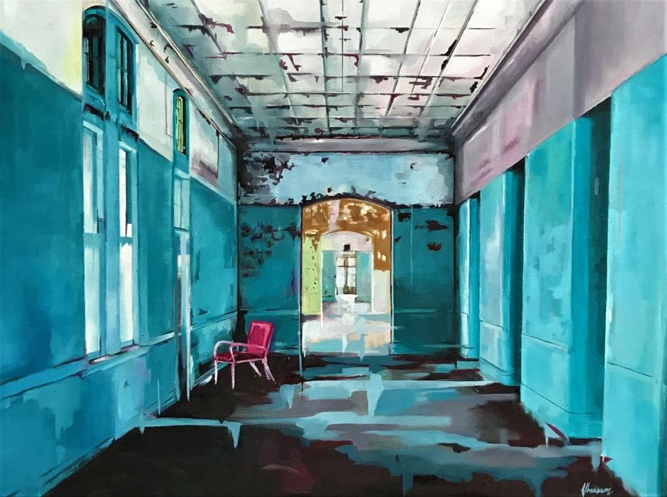 El Hospital |Pintura de Marta Albarsanz | Compra arte en Flecha.es