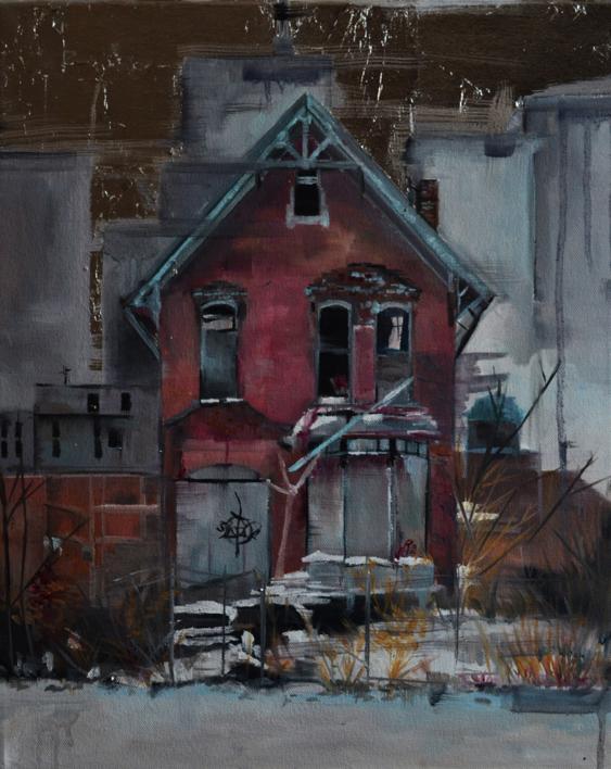 Entre grises |Pintura de Marta Albarsanz | Compra arte en Flecha.es