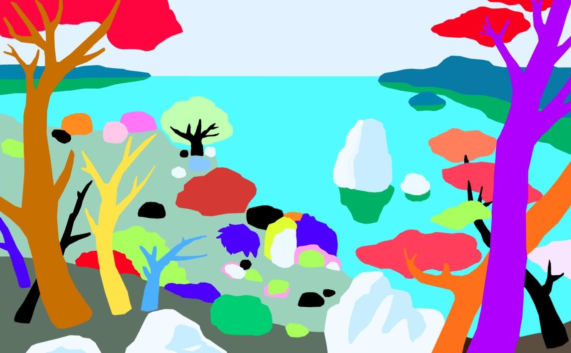 Acantilados |Dibujo de ALEJOS | Compra arte en Flecha.es