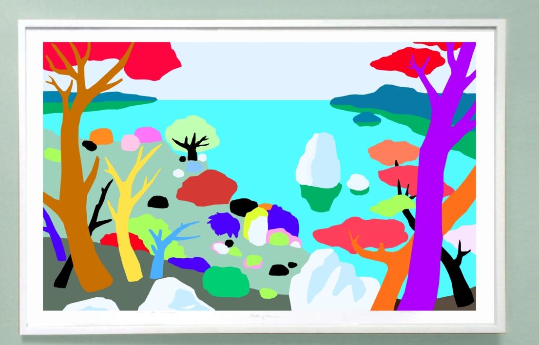 Acantilados | Dibujo de ALEJOS | Compra arte en Flecha.es