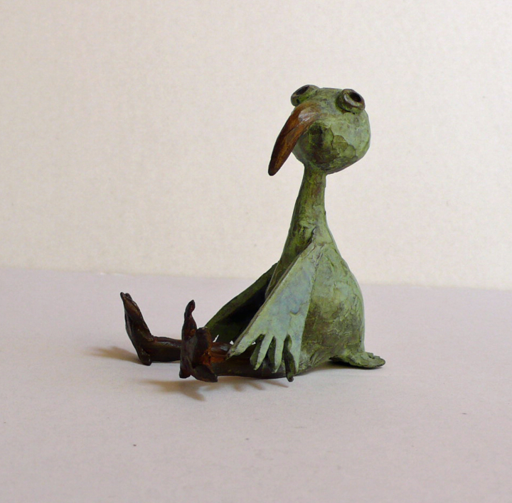 Pollito derrengao | Escultura de Ana Valenciano | Compra arte en Flecha.es