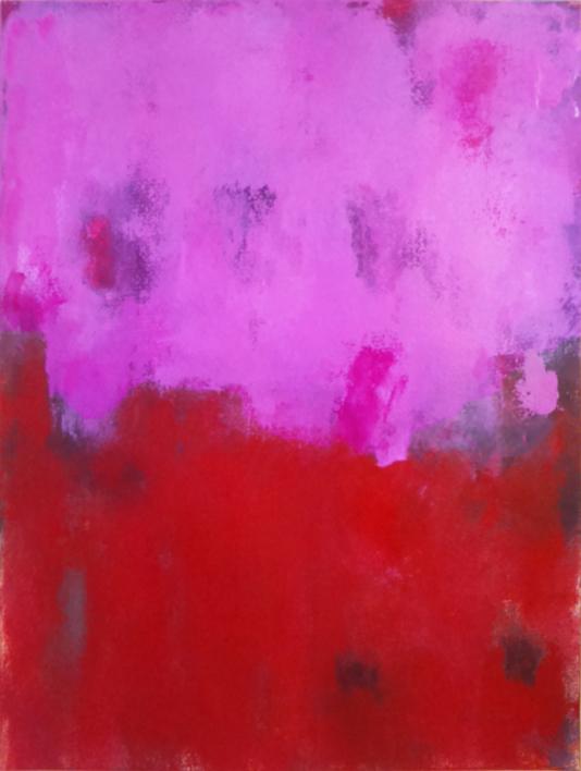 Red against pink |Pintura de Luis Medina | Compra arte en Flecha.es