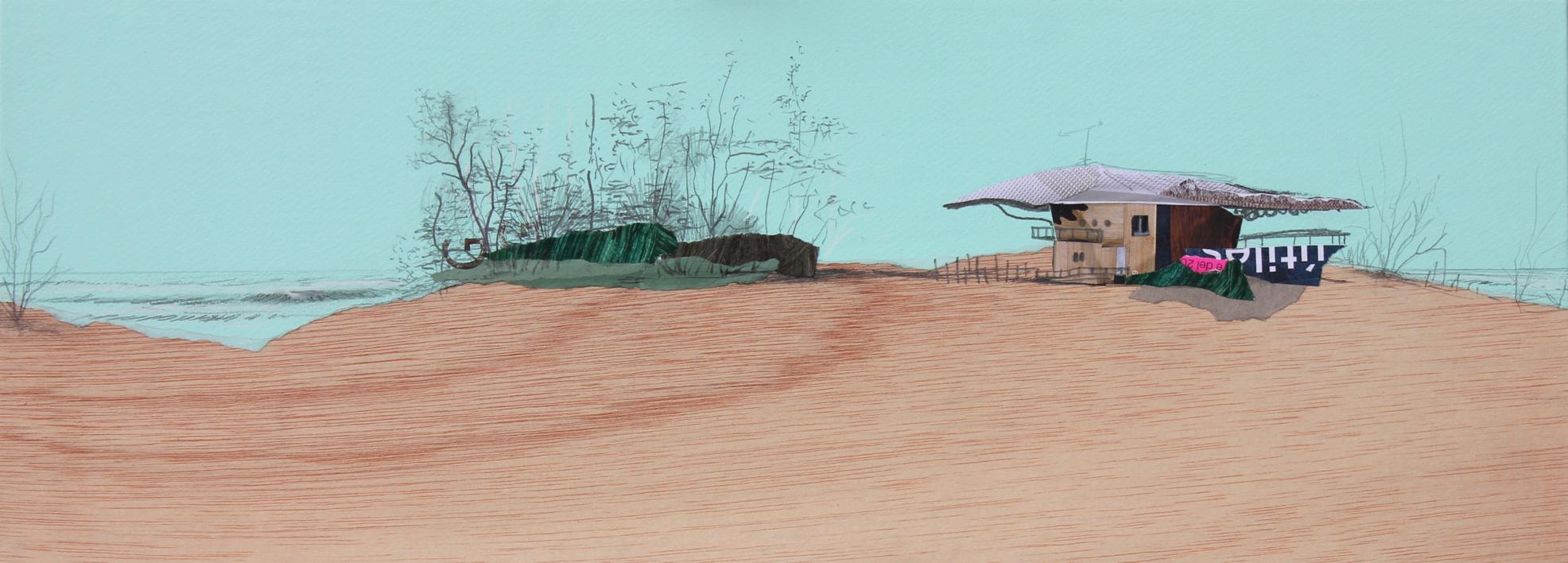 Oasis |Collage de Eduardo Query | Compra arte en Flecha.es