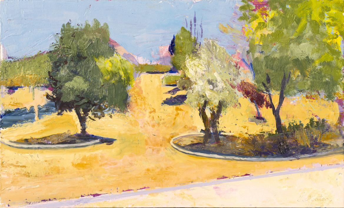 En el parque |Pintura de Ignacio Mateos | Compra arte en Flecha.es