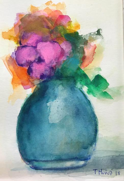 Jardines Imaginarios XXII |Pintura de Teresa Muñoz | Compra arte en Flecha.es
