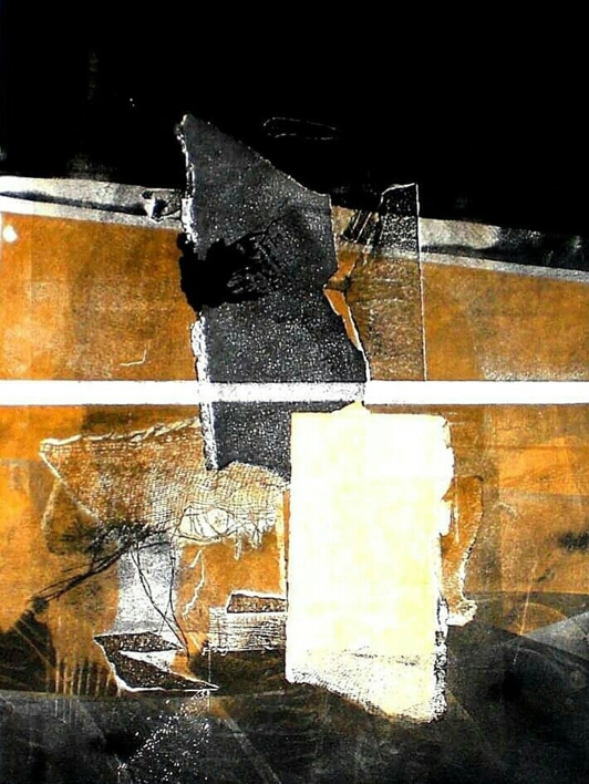 Variación sobre aguatinta II. |Collage de Alejandro Jaqs | Compra arte en Flecha.es