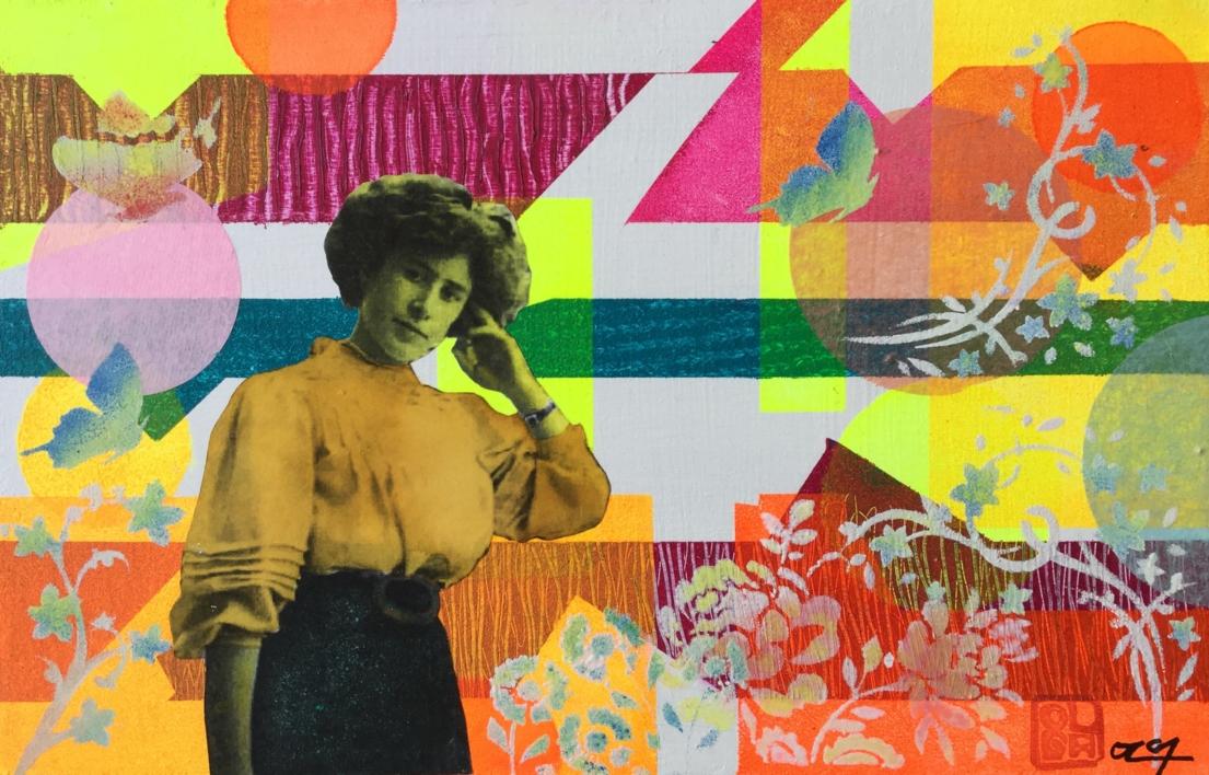 Margarita |Collage de Olga Moreno Maza | Compra arte en Flecha.es