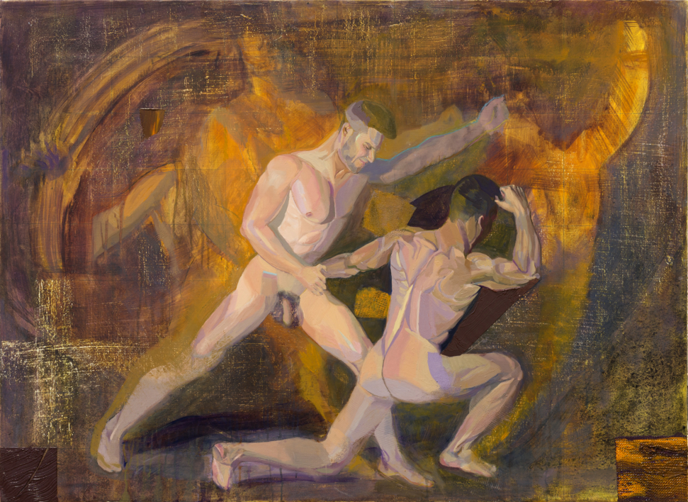 El cuadrado de Malevich provoca pesadillas al joven  artista Richard García |Pintura de Ignacio Mateos | Compra arte en Flecha.es