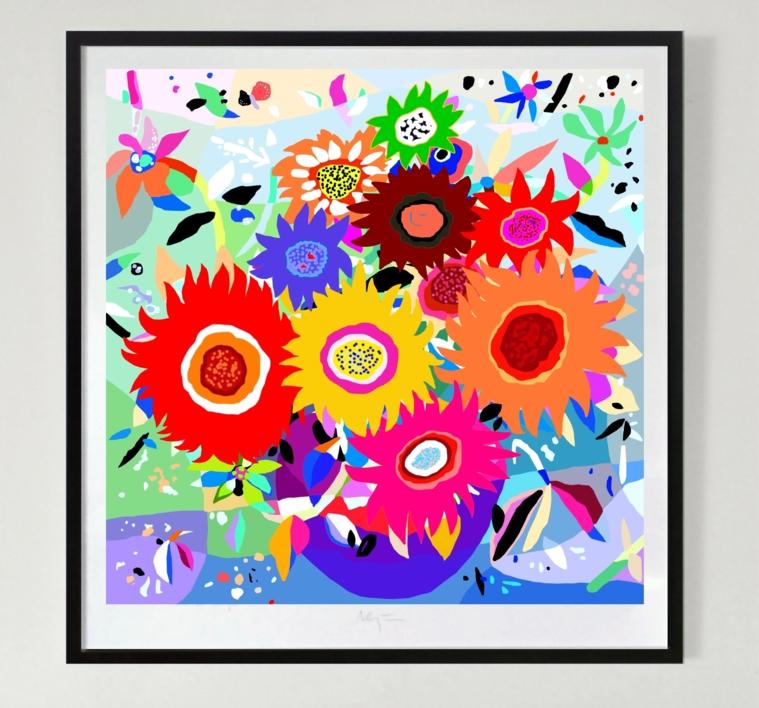 Girasoles   Dibujo de ALEJOS   Compra arte en Flecha.es