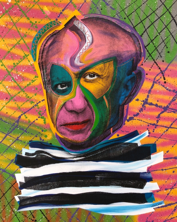Pablo Picasso (Pink) |Pintura de Silvio Alino | Compra arte en Flecha.es