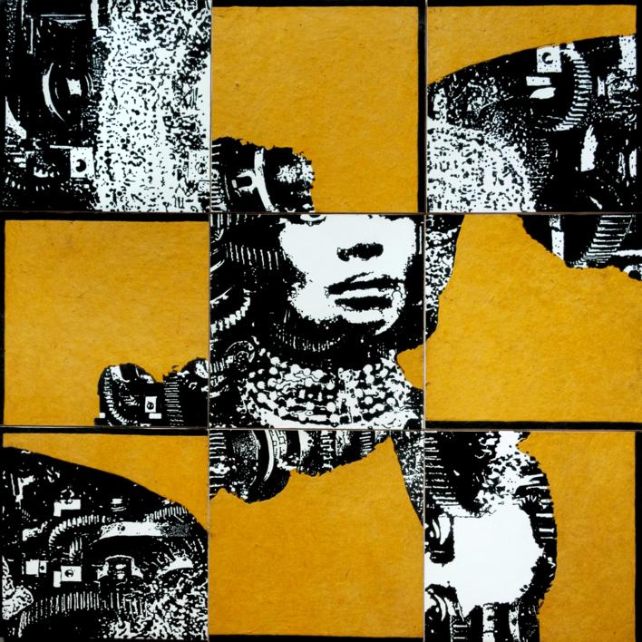 Construcción 3 | Collage de Alicia Calbet | Compra arte en Flecha.es