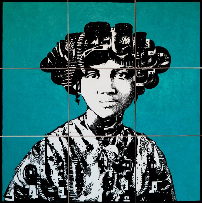 Construcción 5 |Collage de Alicia Calbet | Compra arte en Flecha.es