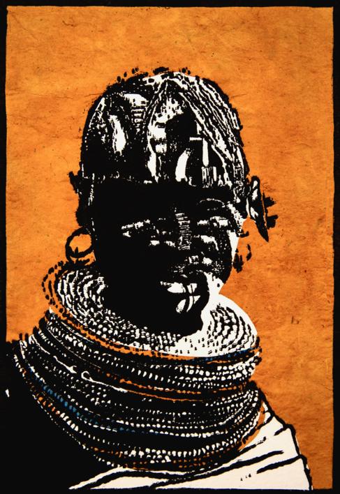 Tribu Turkana |Collage de Alicia Calbet | Compra arte en Flecha.es