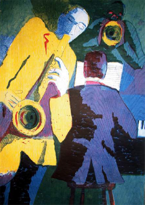 Jazz trío |Obra gráfica de Jenifer Carey | Compra arte en Flecha.es