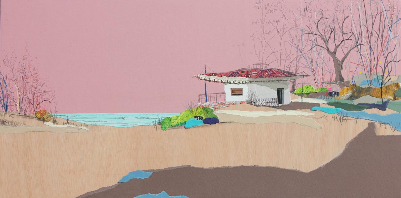 Crepúsculo tropical |Collage de Eduardo Query | Compra arte en Flecha.es