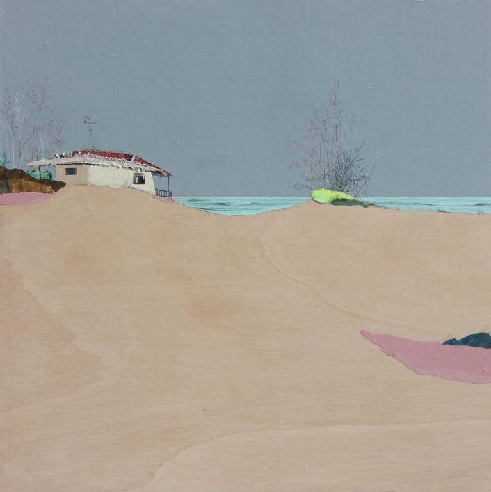 Dunas rosas de sal y yodo |Collage de Eduardo Query | Compra arte en Flecha.es