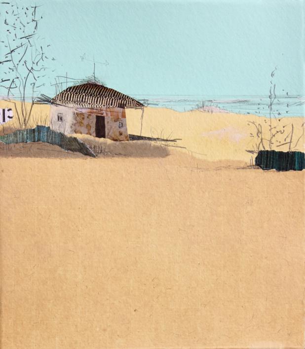 Un cálido hogar al sur  Collage de Eduardo Query   Compra arte en Flecha.es