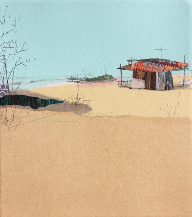 Sur |Collage de Eduardo Query | Compra arte en Flecha.es