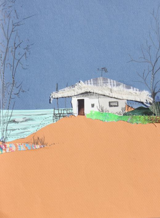 Paisaje complementario |Collage de Eduardo Query | Compra arte en Flecha.es