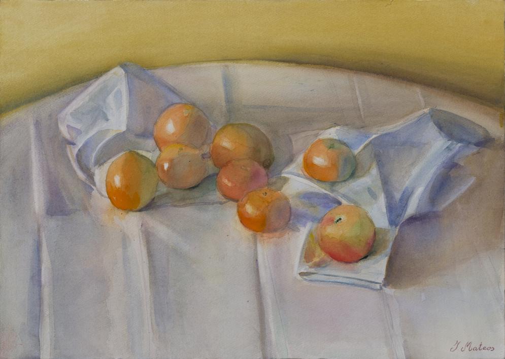 Ocre, naranja, gris |Pintura de Ignacio Mateos | Compra arte en Flecha.es