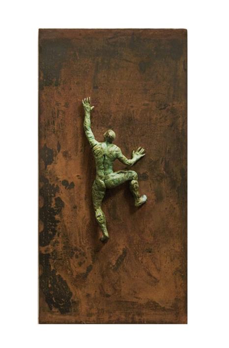 ESCALADOR XI |Escultura de Fernando Suárez | Compra arte en Flecha.es