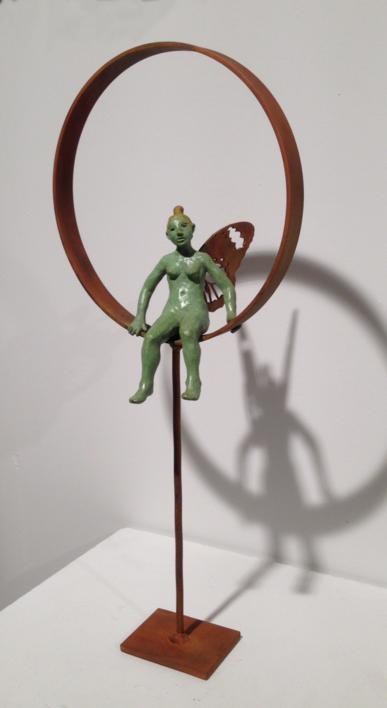 Con alas  Escultura de Charlotte Adde   Compra arte en Flecha.es