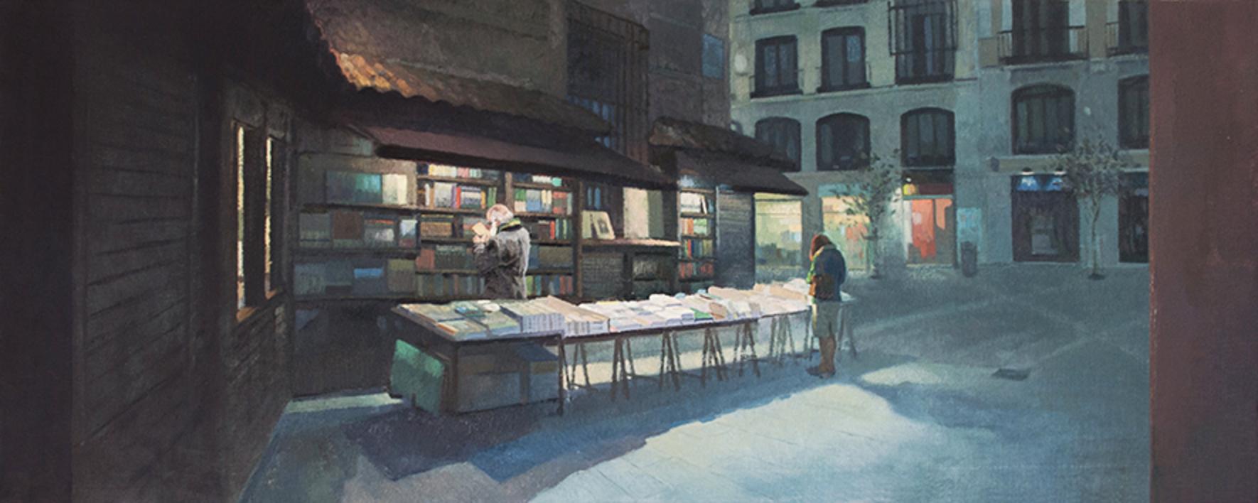 La librería San Ginés |Pintura de Orrite | Compra arte en Flecha.es