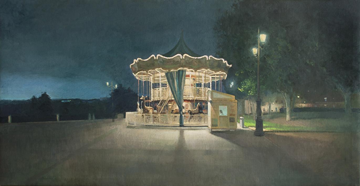Noche mágica en Madrid |Pintura de Orrite | Compra arte en Flecha.es
