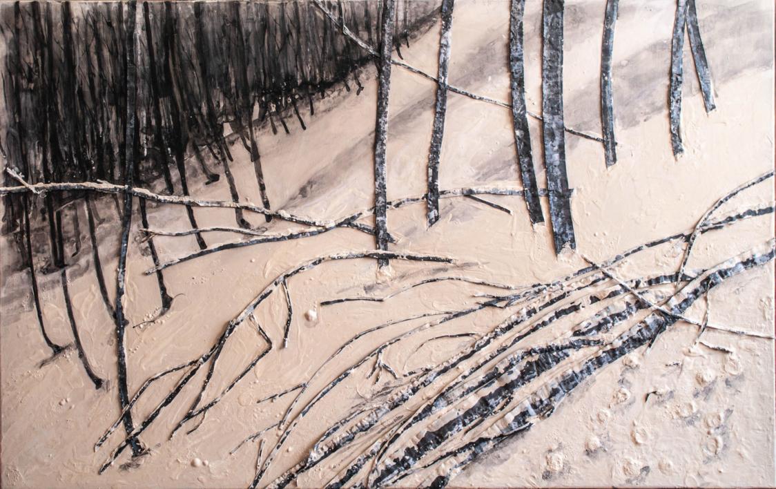 paisajes negros |Pintura de beatriz cárcamo | Compra arte en Flecha.es