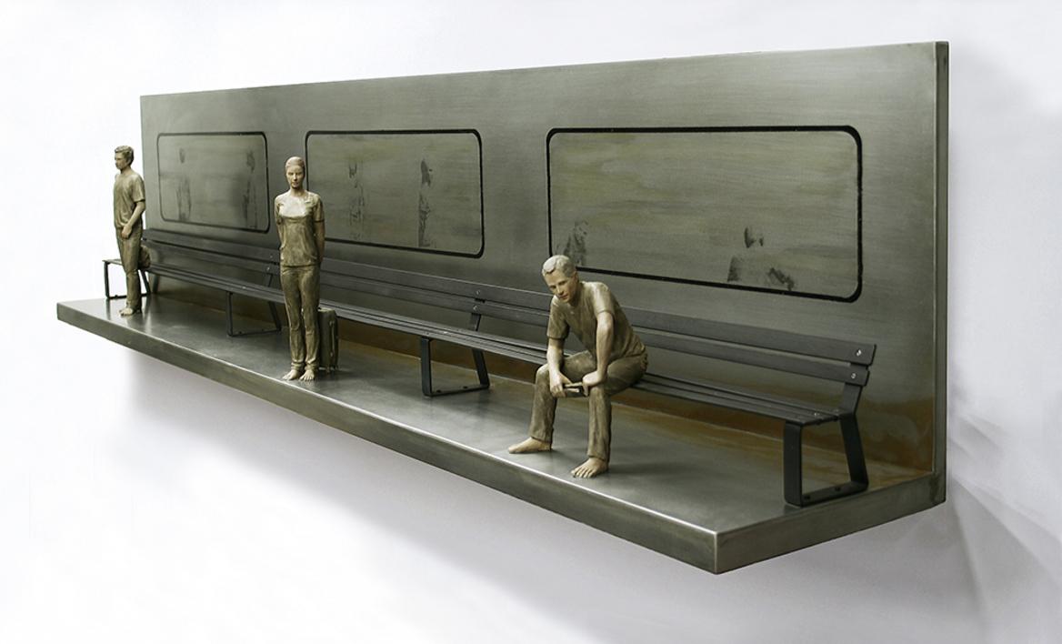 El banco que espera al tren III |Escultura de Marta Sánchez Luengo | Compra arte en Flecha.es