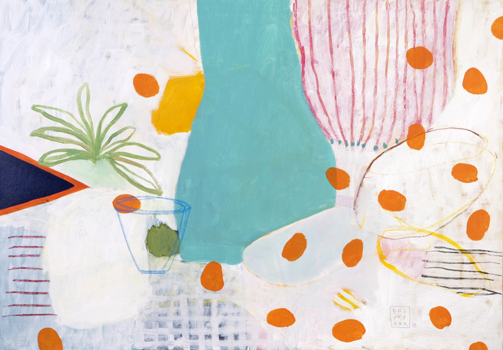 Portolakí Polka |Pintura de Ana Cano Brookbank | Compra arte en Flecha.es