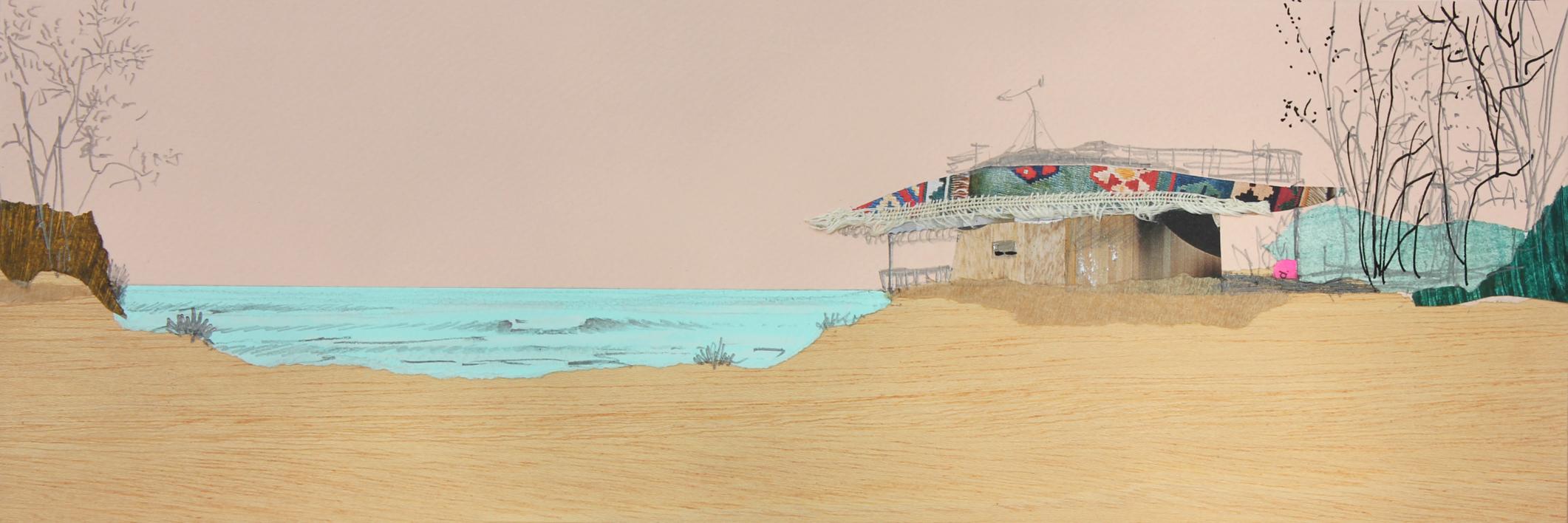 La cabaña  Collage de Eduardo Query   Compra arte en Flecha.es