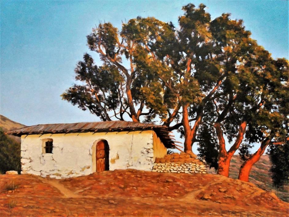 Cabaña y alcornoque |Pintura de Fran Jiménez  (Âli Qasim) | Compra arte en Flecha.es