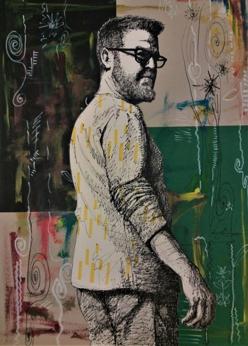 Esos momentos de Apertura (autorretrato) |Collage de Fran Jiménez  (Âli Qasim) | Compra arte en Flecha.es