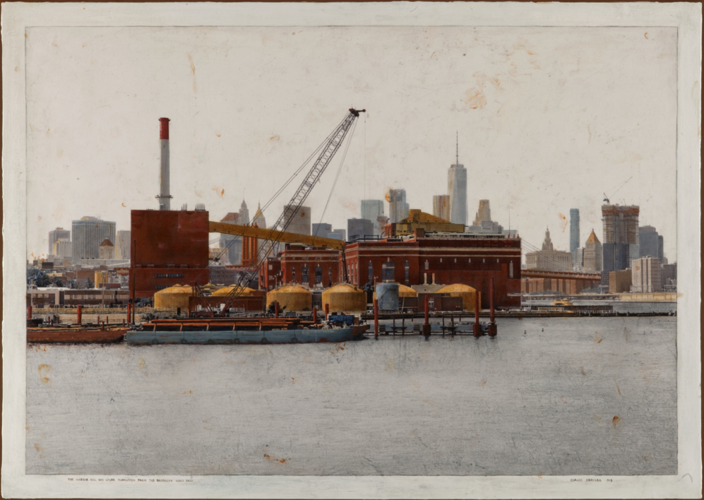 The Vinegar Hill And Lower Manhattan From Brooklyn Navy Yard 60x86 |Fotografía de Carlos Arriaga | Compra arte en Flecha.es