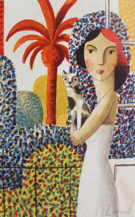 Balcón |Obra gráfica de Didier Lourenço | Compra arte en Flecha.es