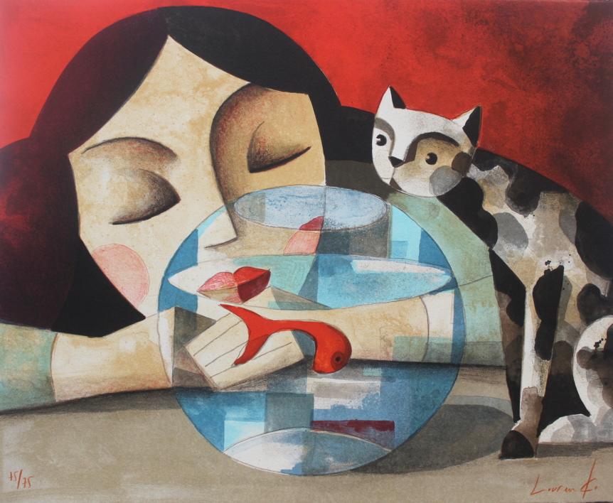 Mientras Duermes |Obra gráfica de Didier Lourenço | Compra arte en Flecha.es