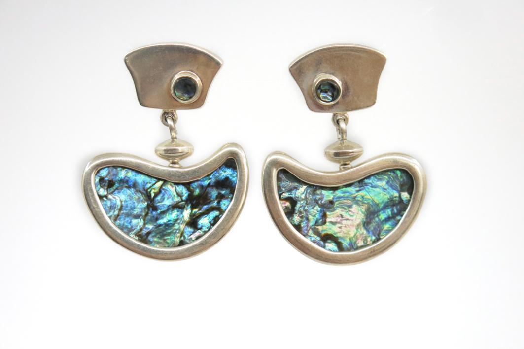 Pendientes de plata 950 y abalón |Joyería de Ester Ventura | Compra arte en Flecha.es