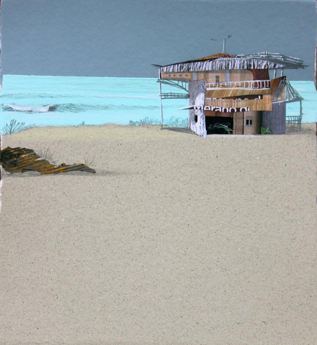 En el pico |Collage de Eduardo Query | Compra arte en Flecha.es