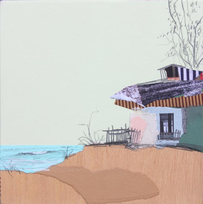 La casa verde |Collage de Eduardo Query | Compra arte en Flecha.es