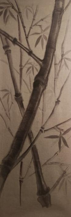 TAPIZ BAMBÚ |Pintura de Verónica Bustamante Loring | Compra arte en Flecha.es