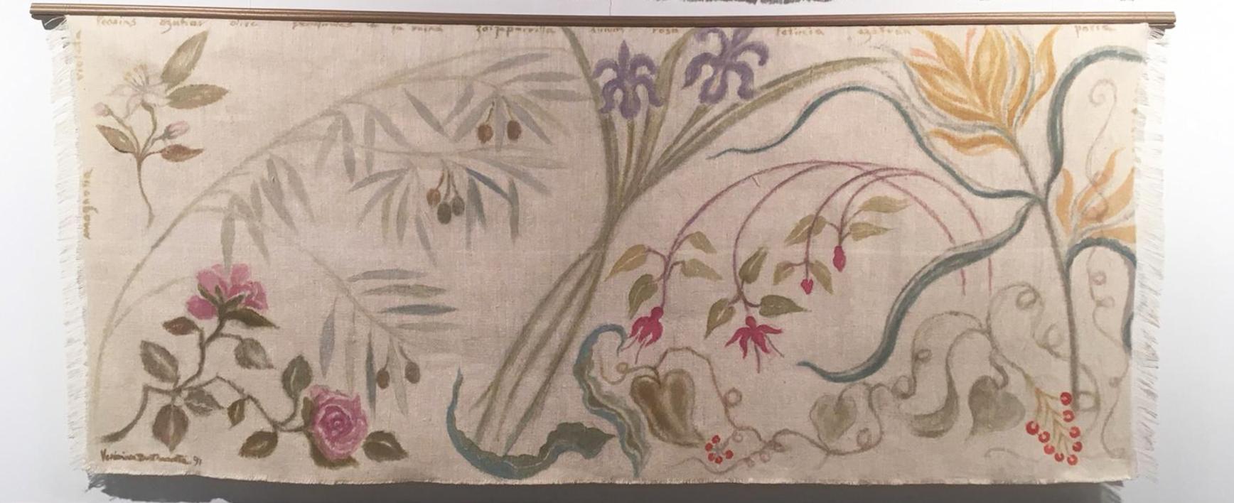 TAPIZ BOTÁNICA MEDITERRÁNEA |Pintura de Verónica Bustamante Loring | Compra arte en Flecha.es