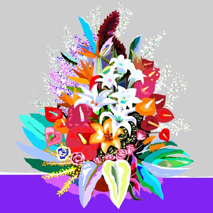 Flores III (Let´s go back to the start) |Obra gráfica de ALEJOS | Compra arte en Flecha.es