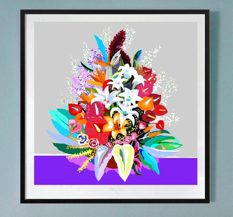 Flores III (Let´s go back to the start) | Obra gráfica de ALEJOS | Compra arte en Flecha.es
