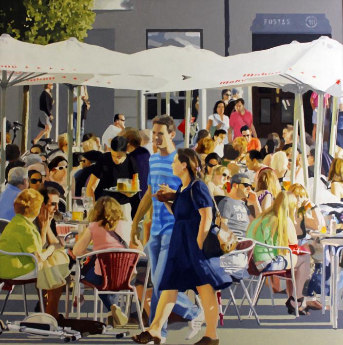 terraza en vitoria |Pintura de Jose Belloso | Compra arte en Flecha.es