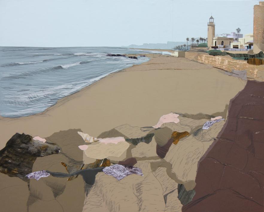 Faro mediterráneo |Collage de Eduardo Query | Compra arte en Flecha.es
