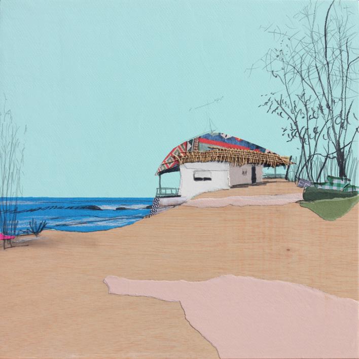 Mar azul |Collage de Eduardo Query | Compra arte en Flecha.es