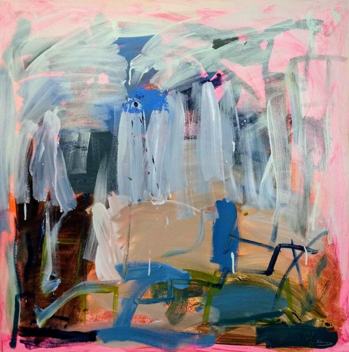 ATMÓSFERA ROSADA |Pintura de Jesús Cuenca | Compra arte en Flecha.es