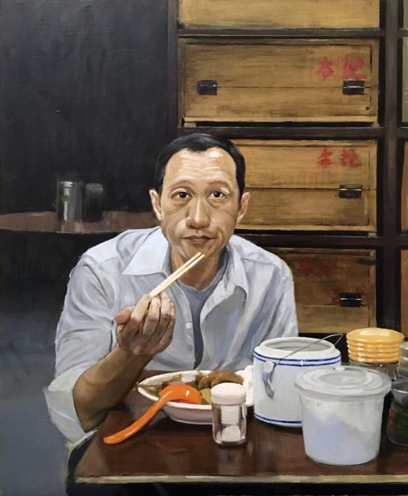 Mr. Koo |Pintura de Pablo Colomo | Compra arte en Flecha.es