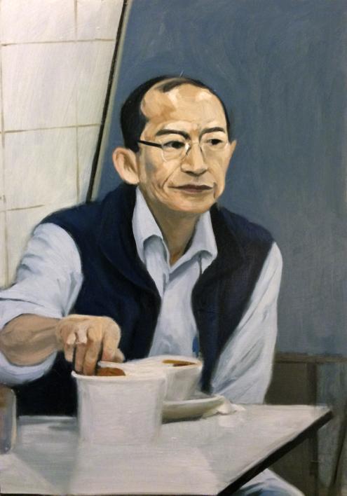Mr. Ho |Pintura de Pablo Colomo | Compra arte en Flecha.es